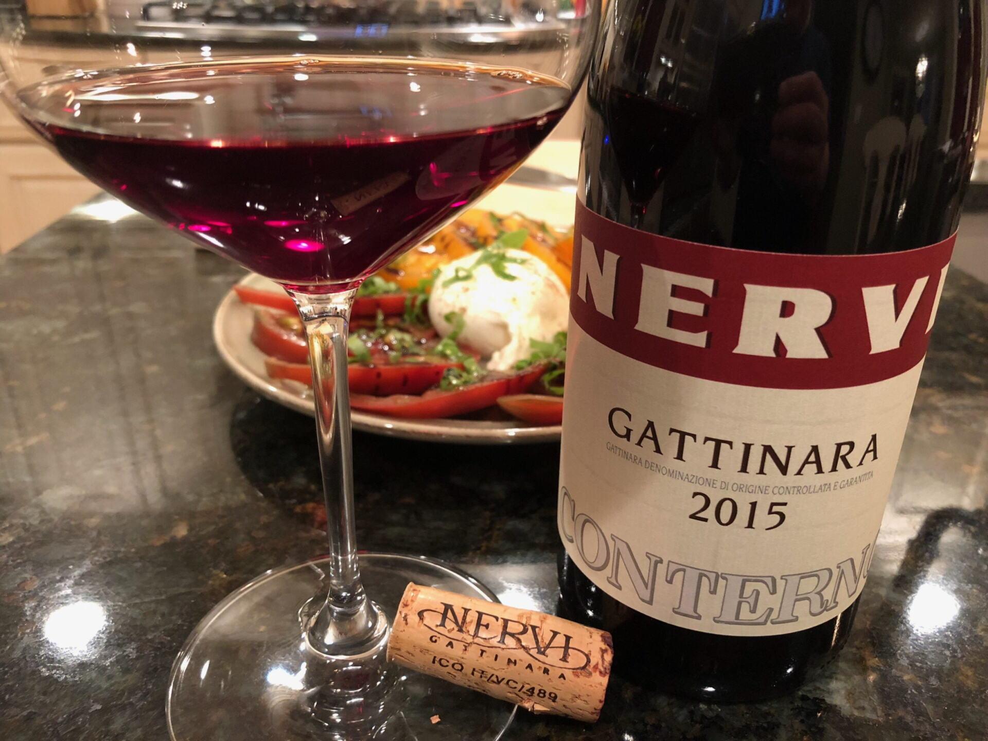 Bottle of Nervi Gattinara wine