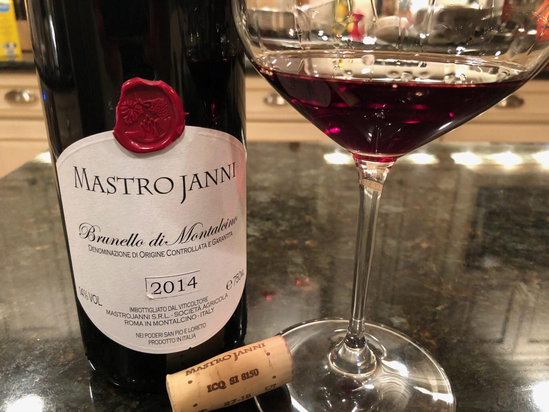 Brunello wine in a glass