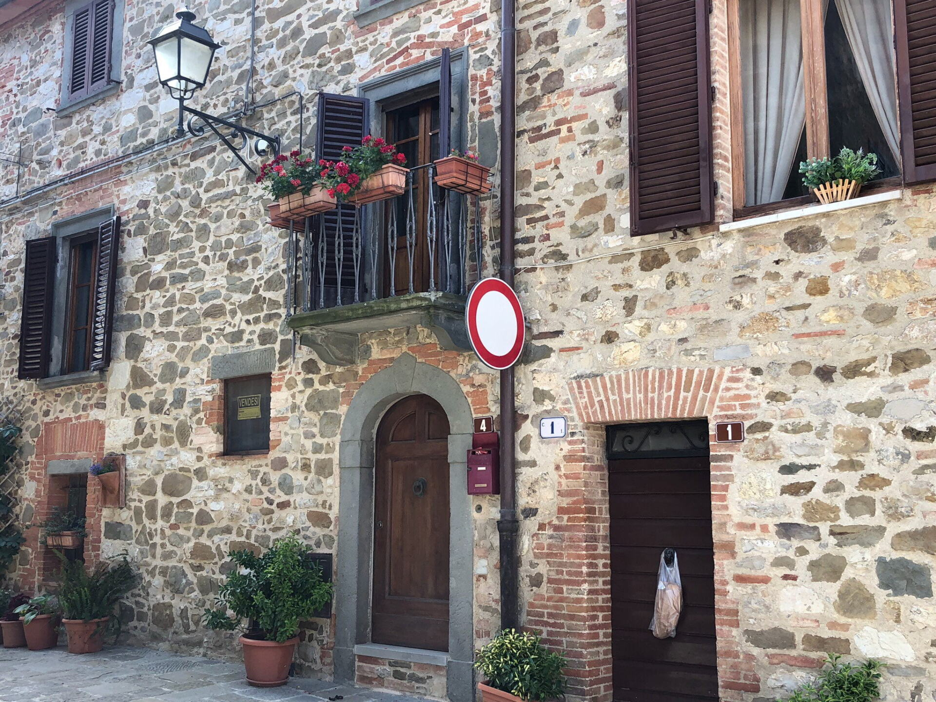Tuscan stone buildings