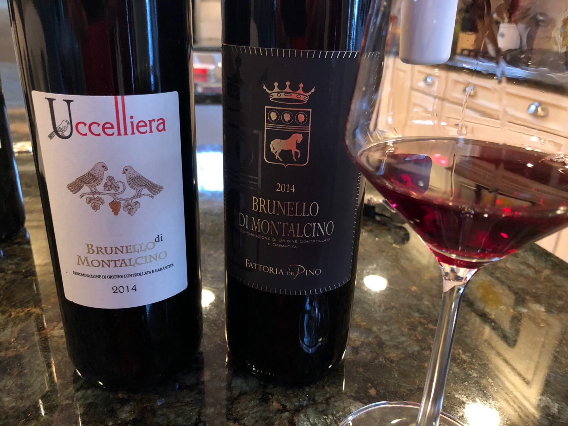 Brunello in bottle and glass