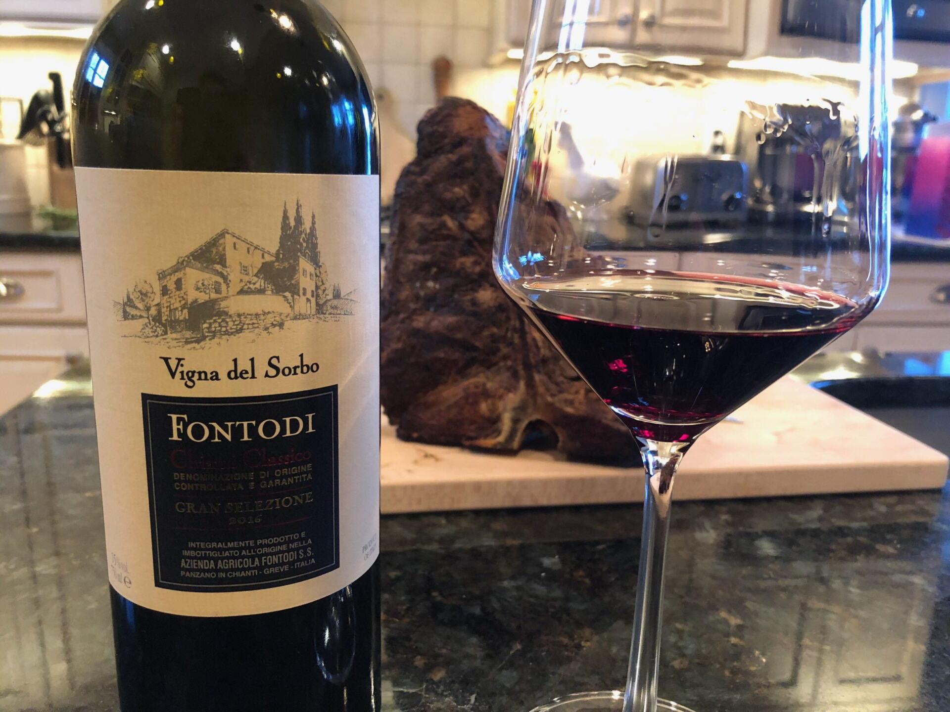 Fontodi Vigna del Sorbo and Steak