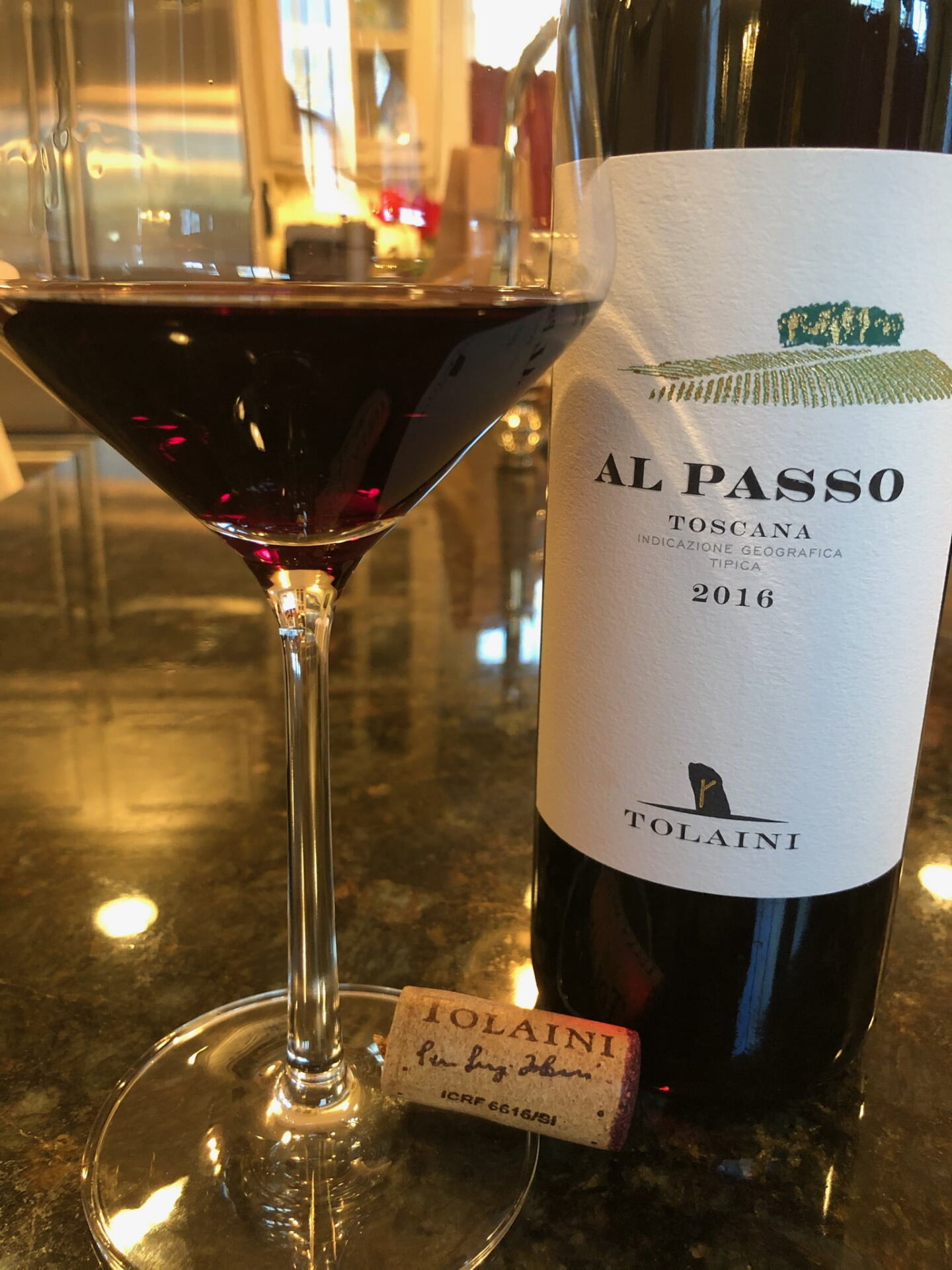 Al Passo bottle of wine