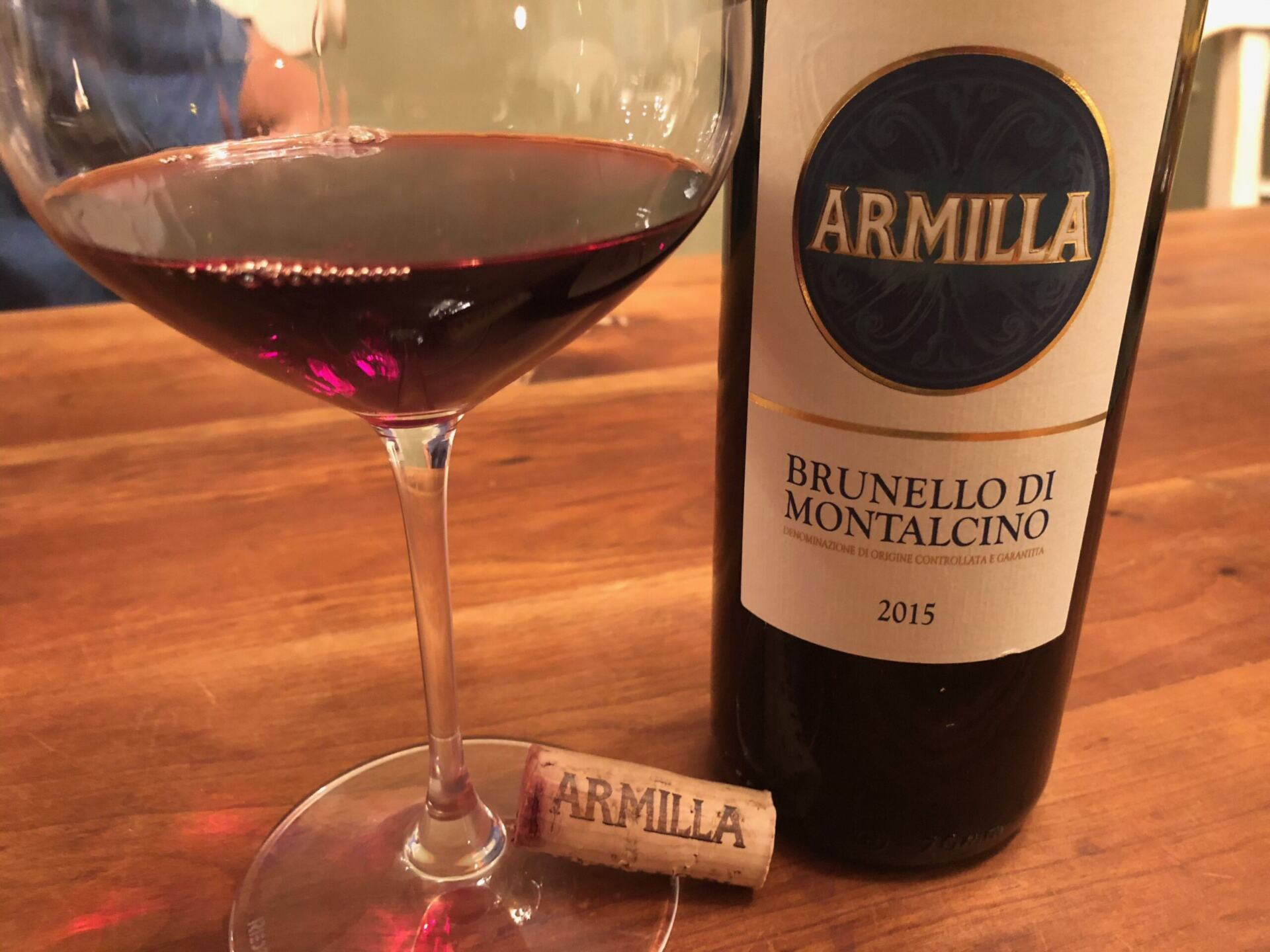 Armilla Brunello in glass