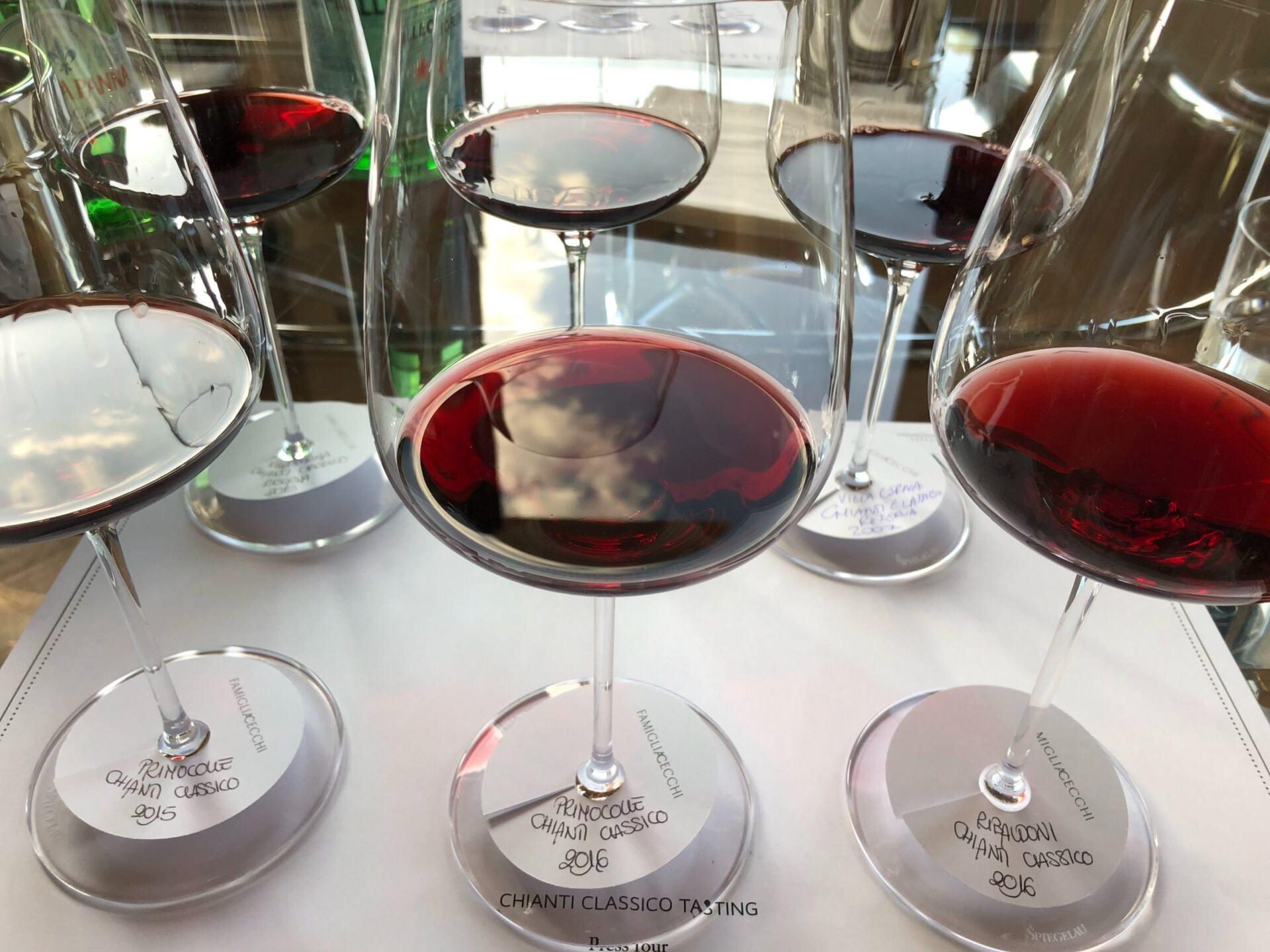 Cecchi wines in the glass