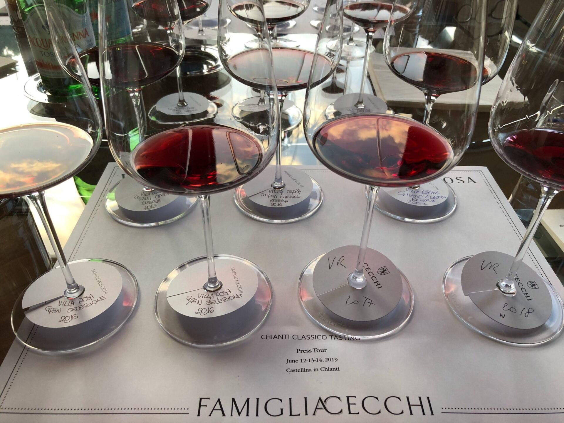 Cecchi wine glasses