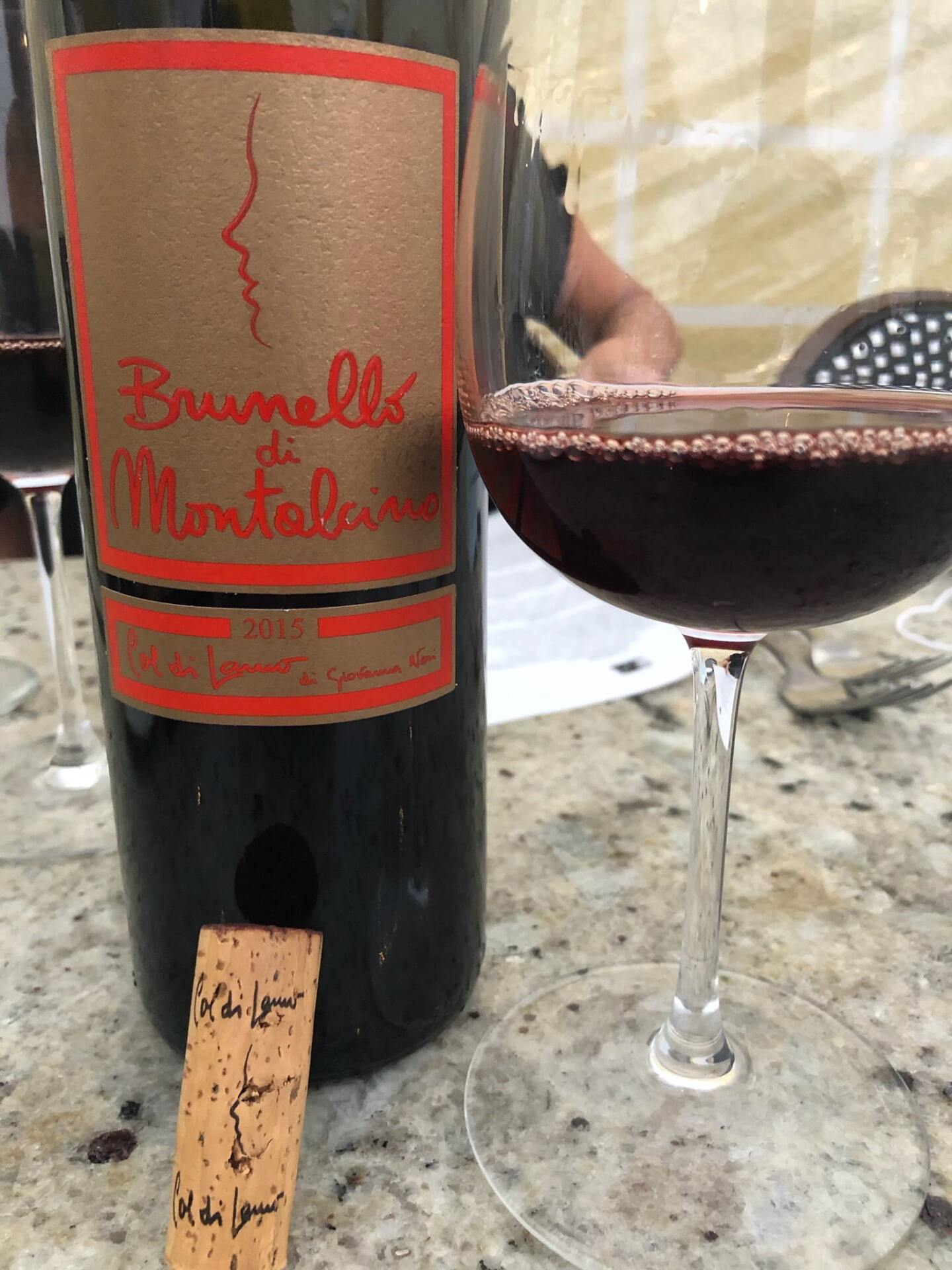 Col di Lamo Brunello in glass