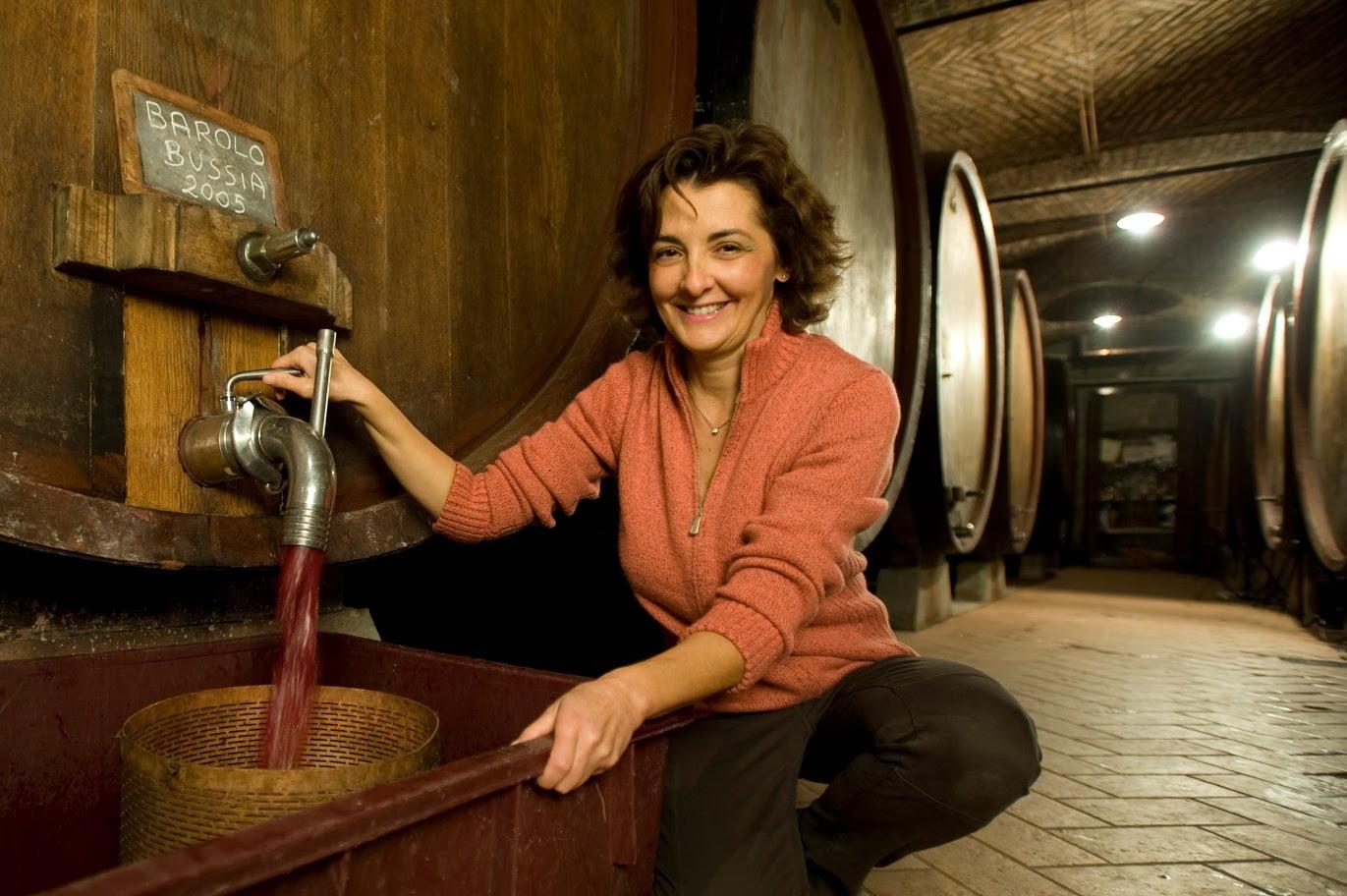 Oddero working in Barolo wine cellar