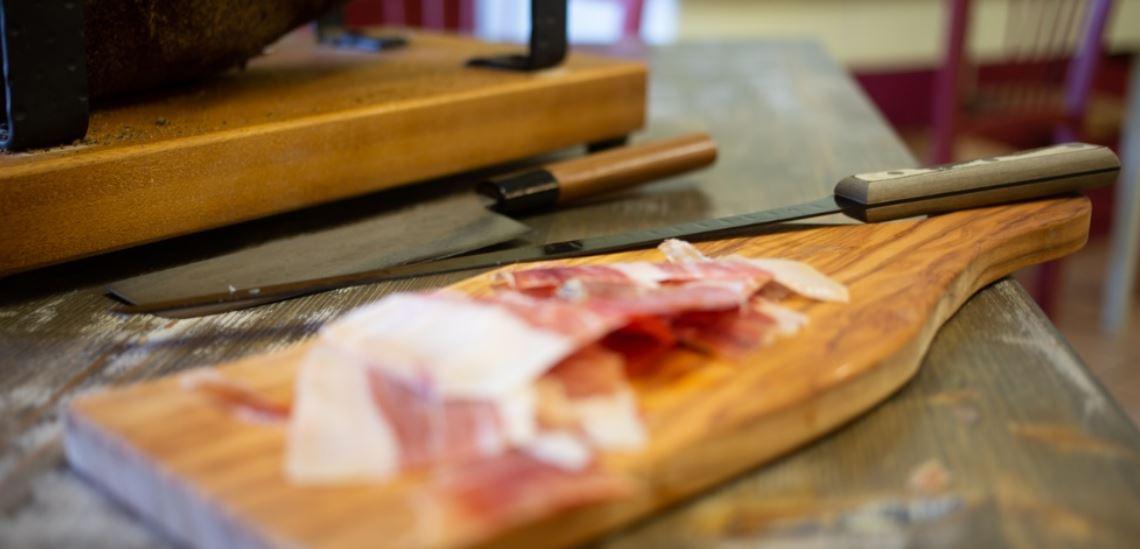 Prosciutto on Cutting board