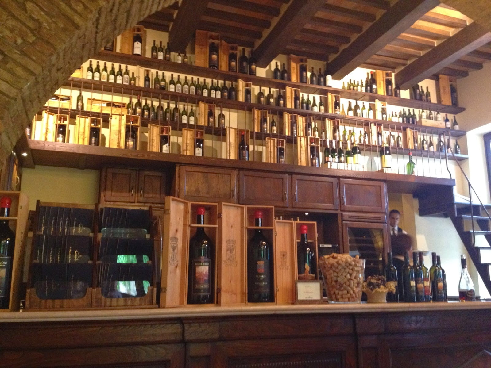 Wine bar inside a Castle