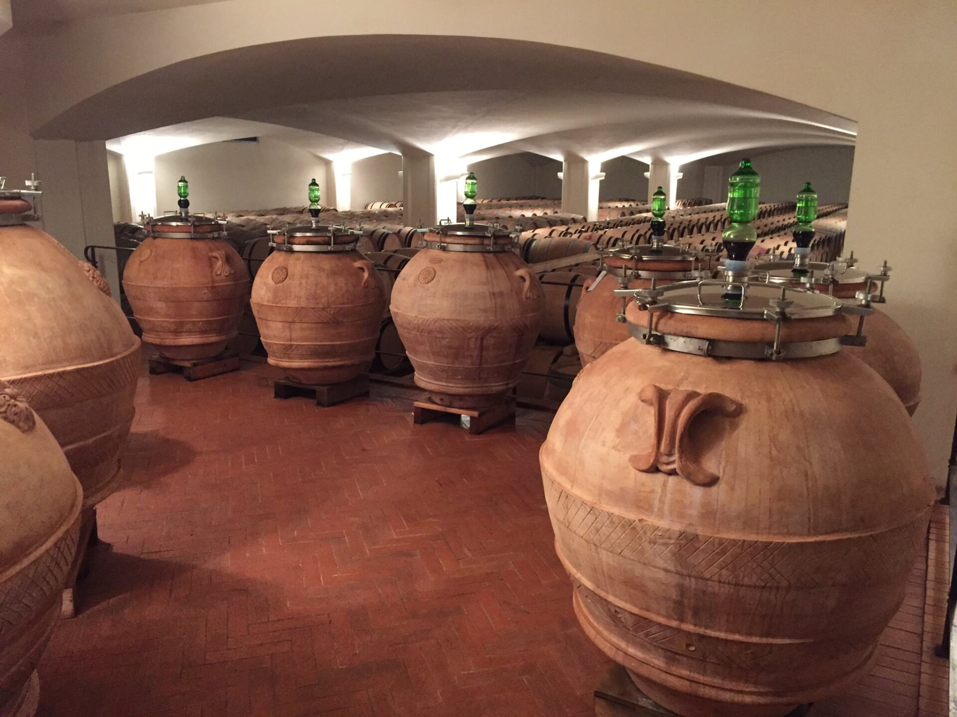 Clay amphora or Orci as they are known in Tuscany