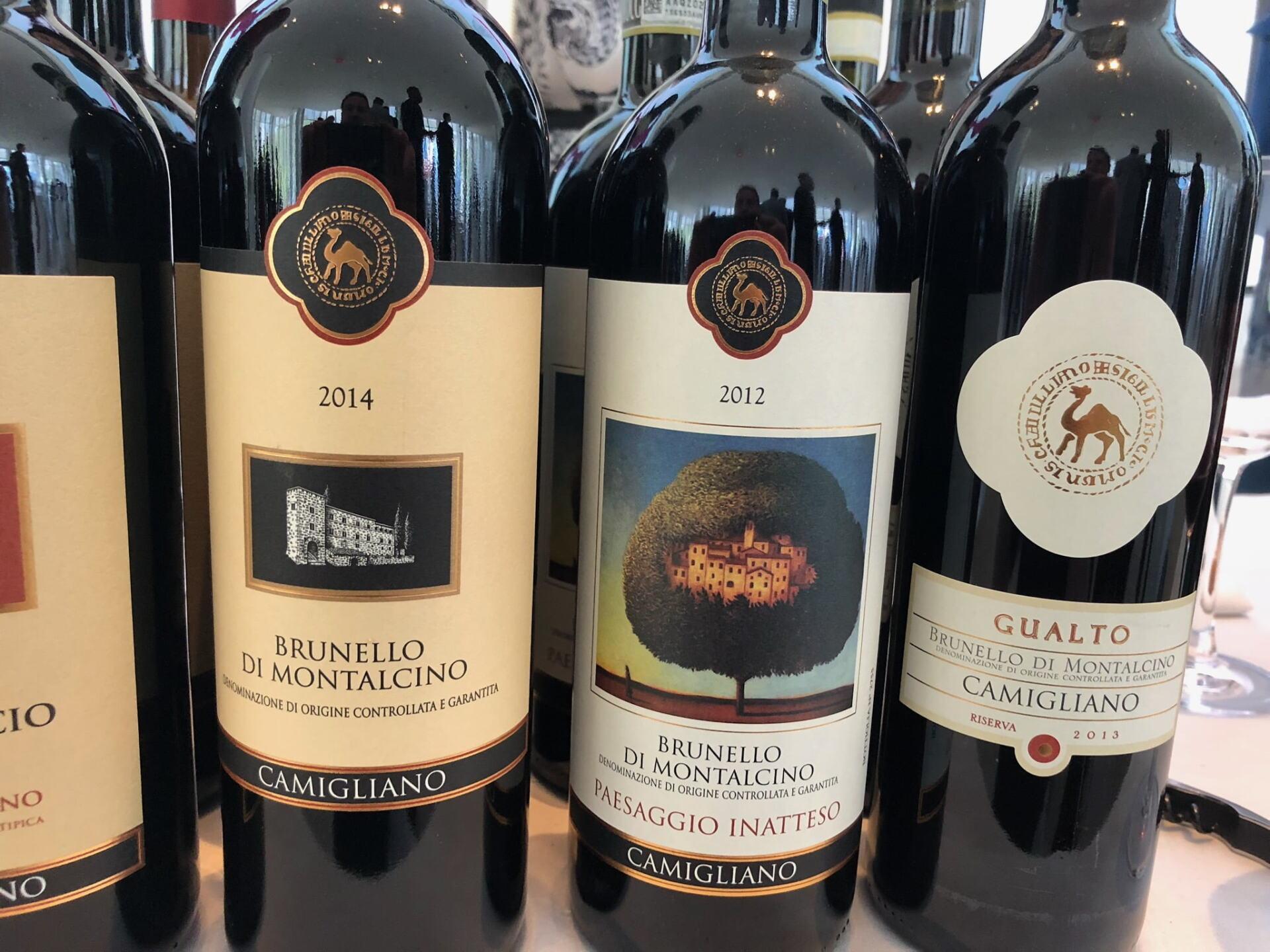 Bottles of Brunello