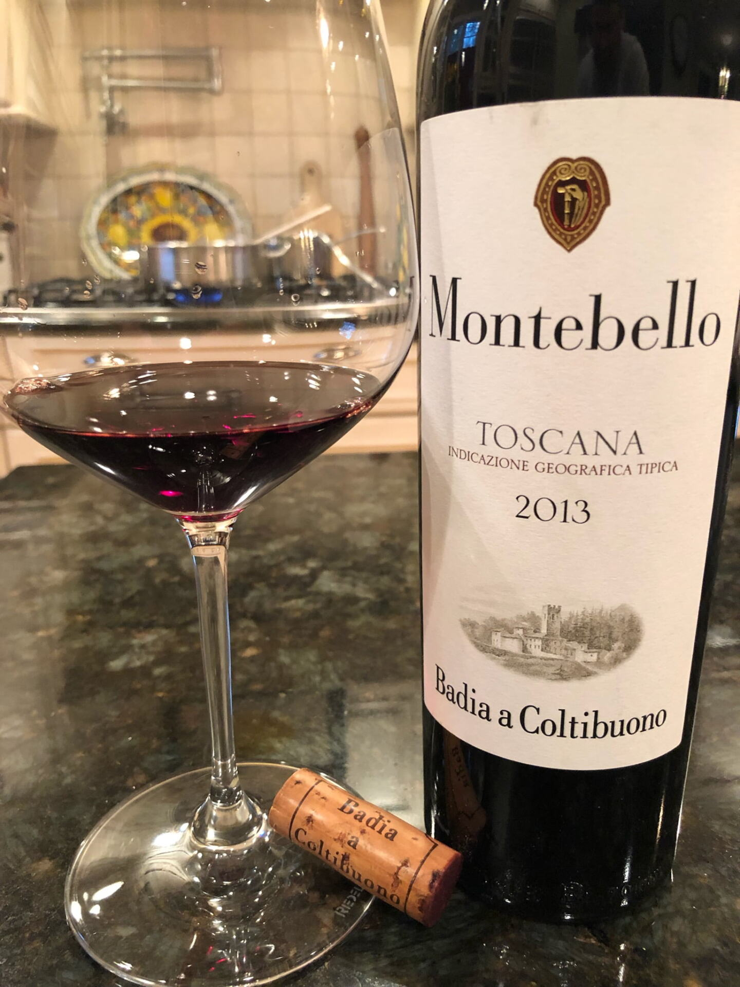 Bottle of wine from Tuscany