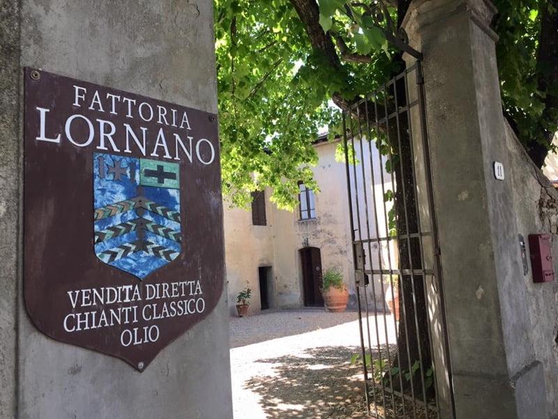 Entrance to Fattoria Lornano