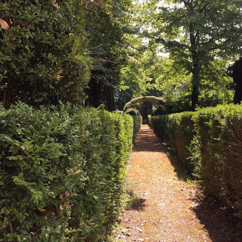 Manicured gardens at Fattoria Lornano
