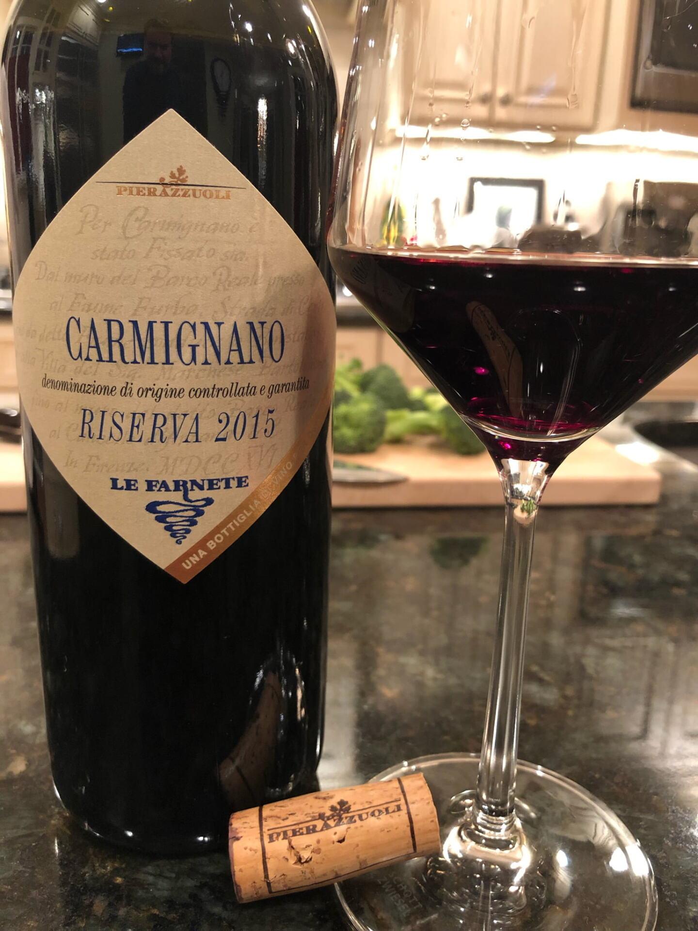 Bottle of Carmignano Wine