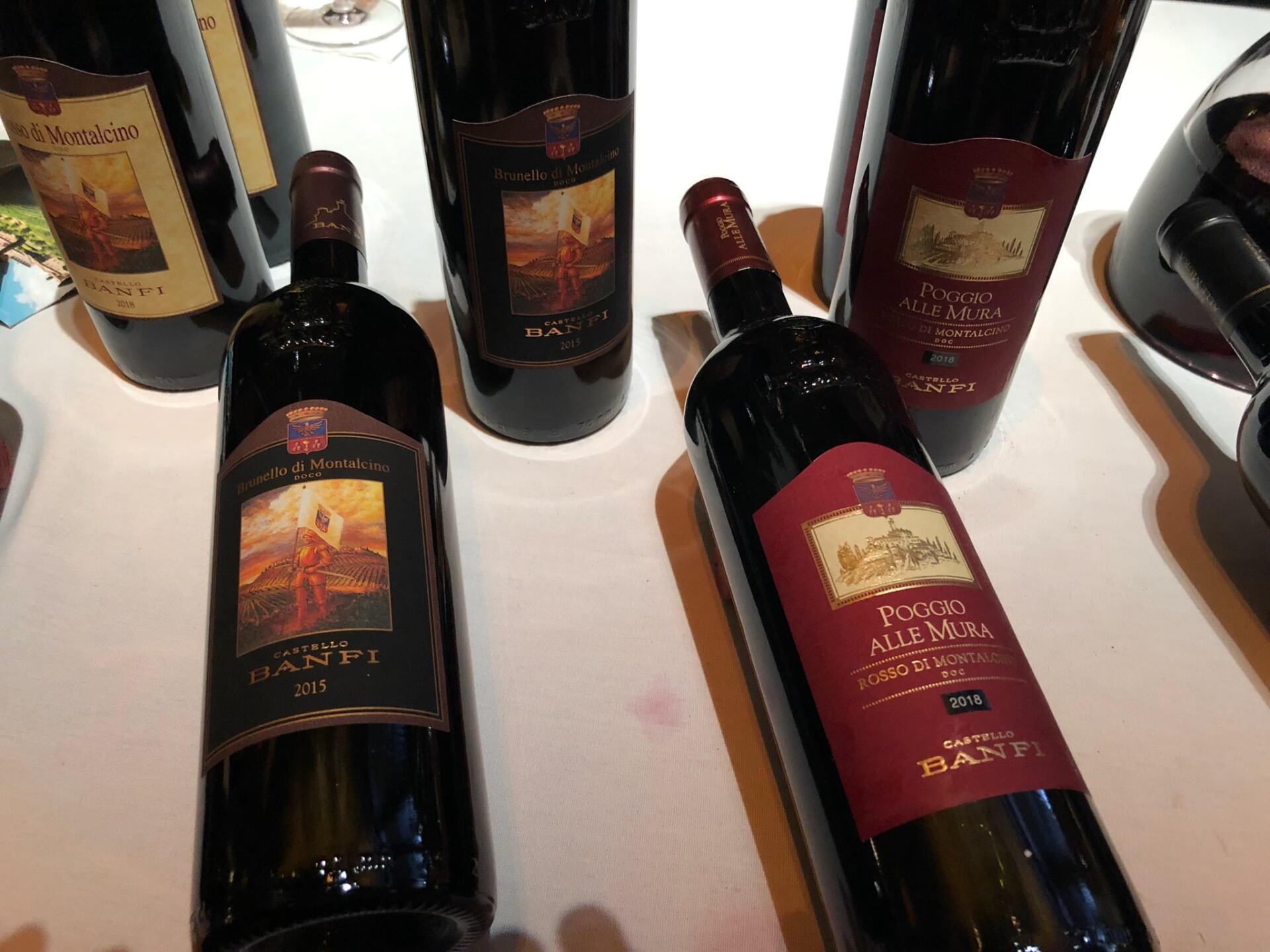 Castello Banfi wines