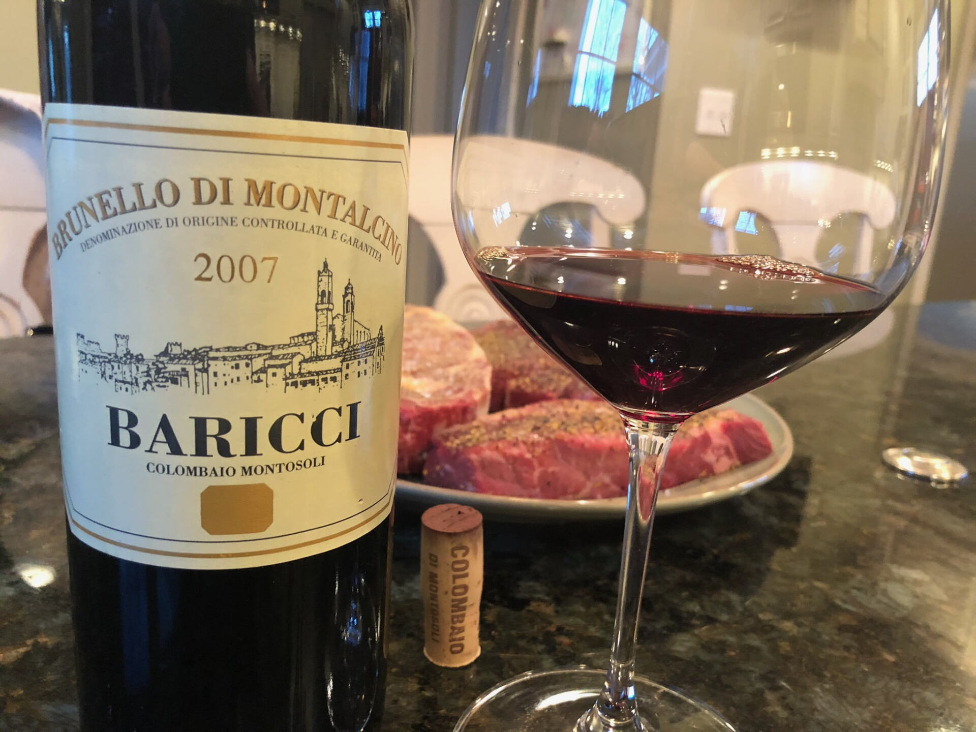 Baricci Brunello and steaks