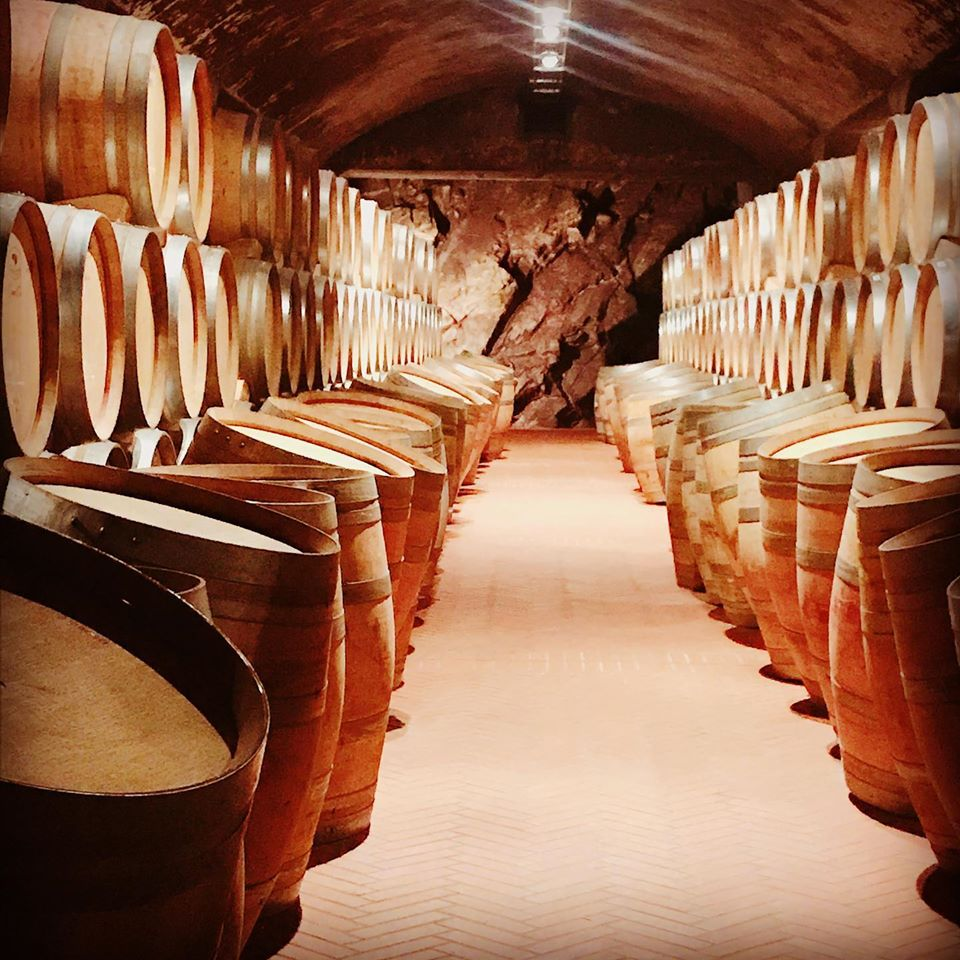 Barrel cave aging cellar