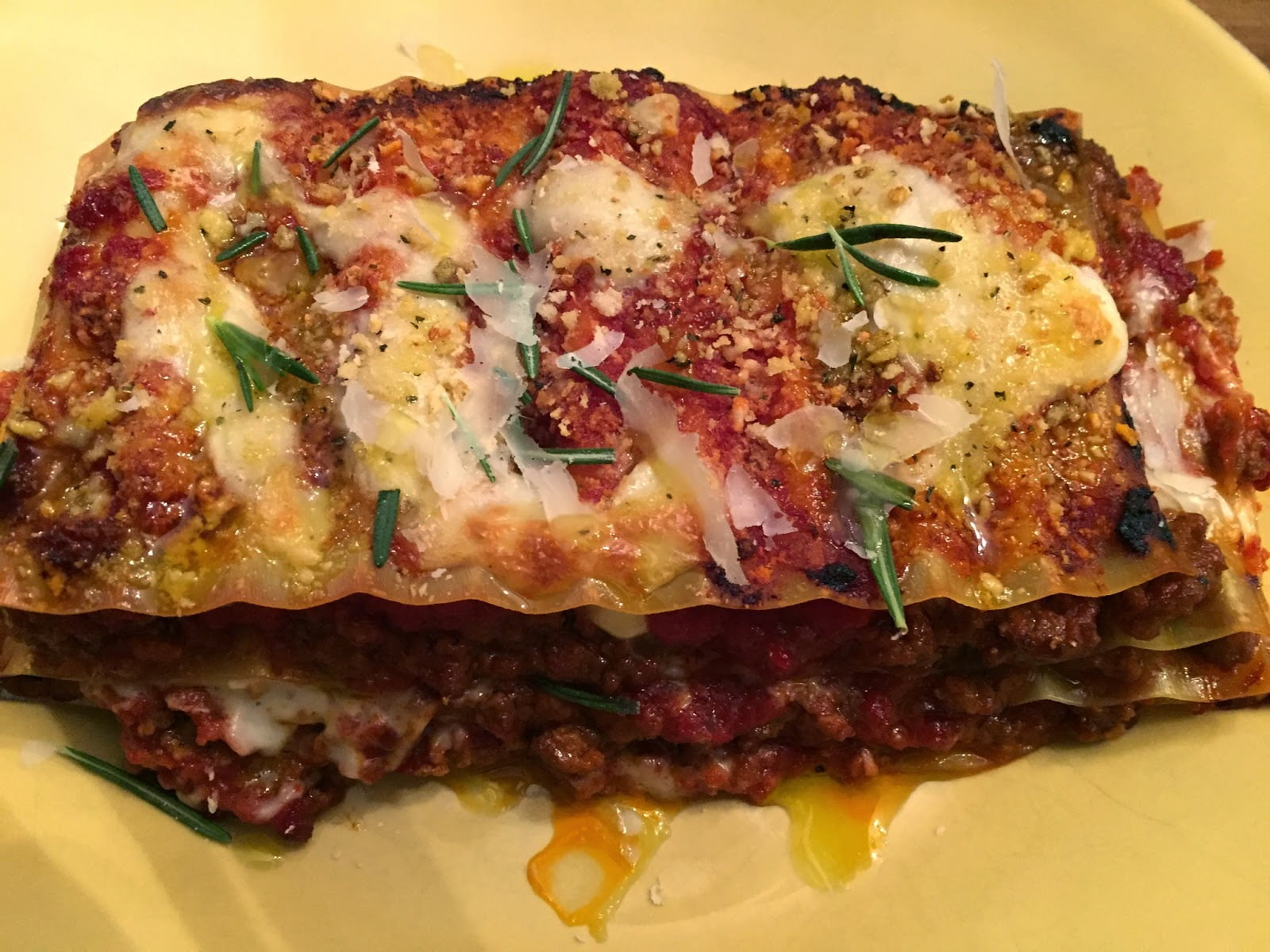 Lasagna with Bolognese and Rosemary