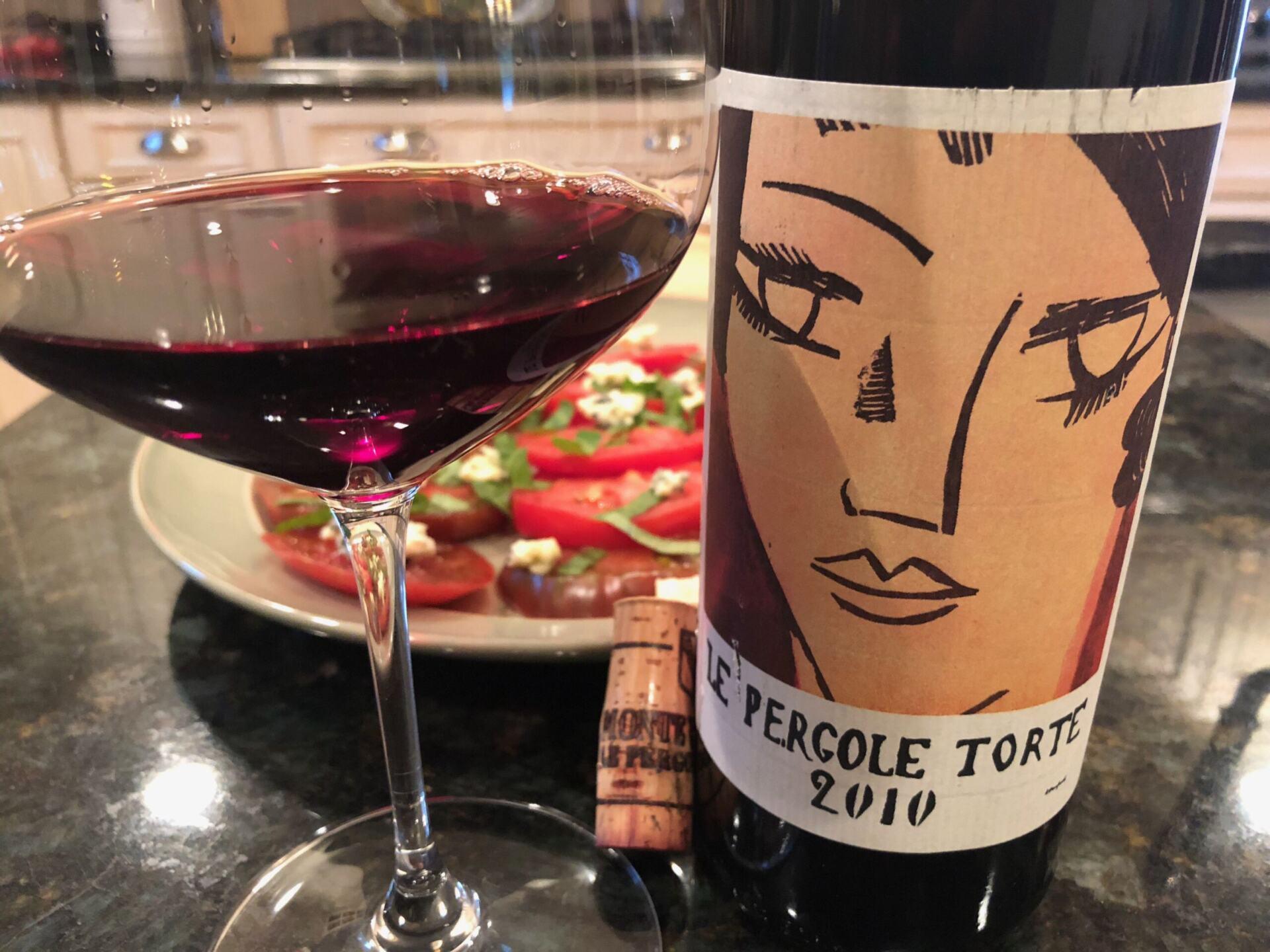 Le Pergole Torte wine in glass