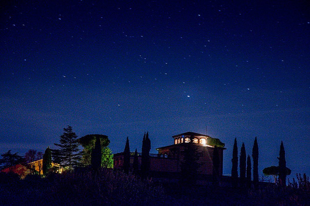 Villa Trasqua under stars