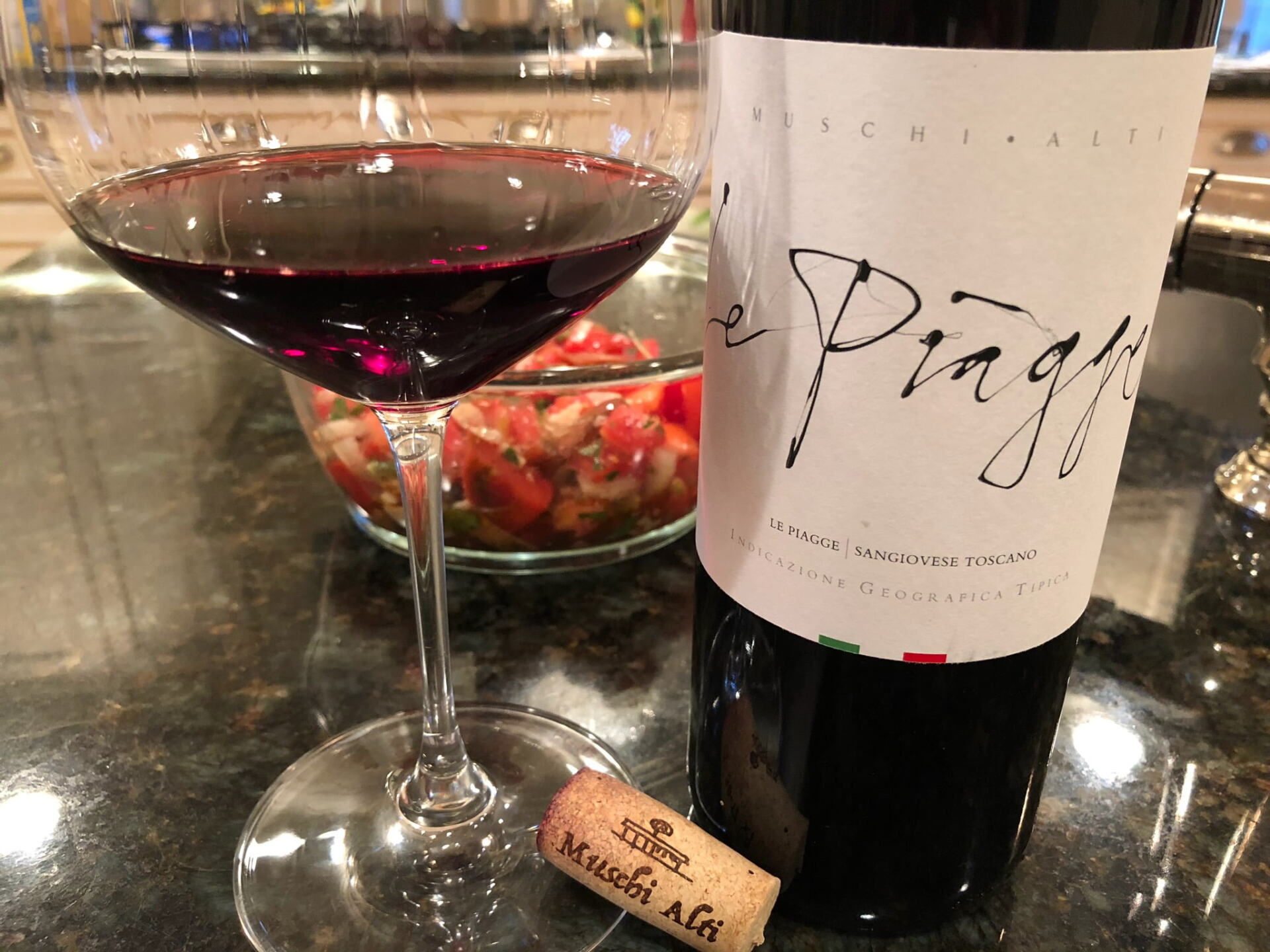 Le Piagge Sangiovese in bottle