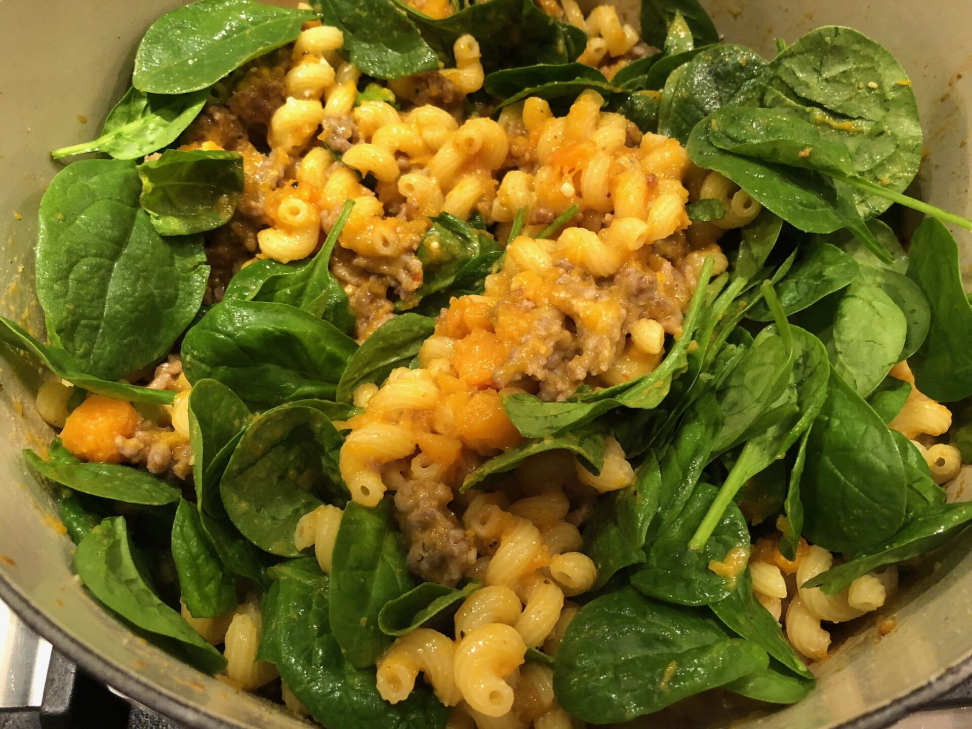 Baked Pasta spinach