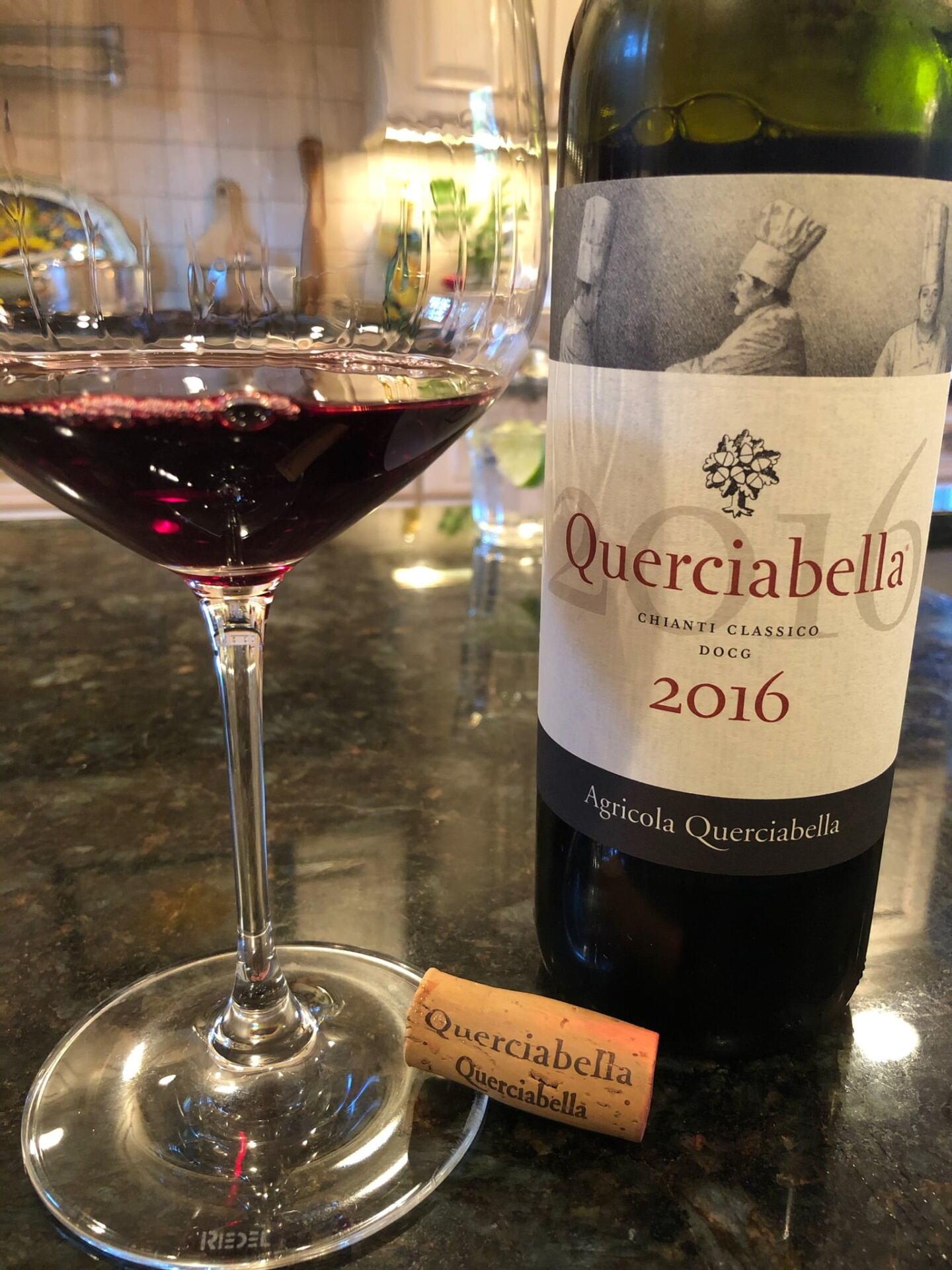Querciabella wine in glass