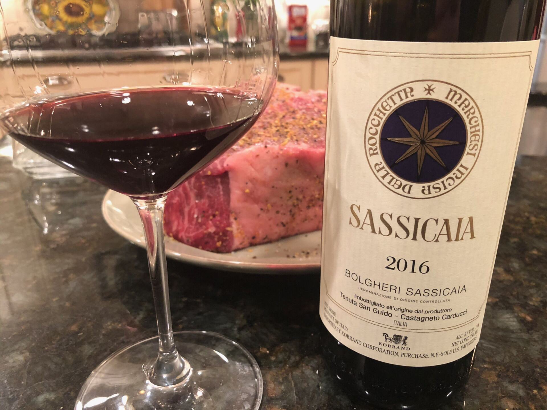 Sassicaia in glass