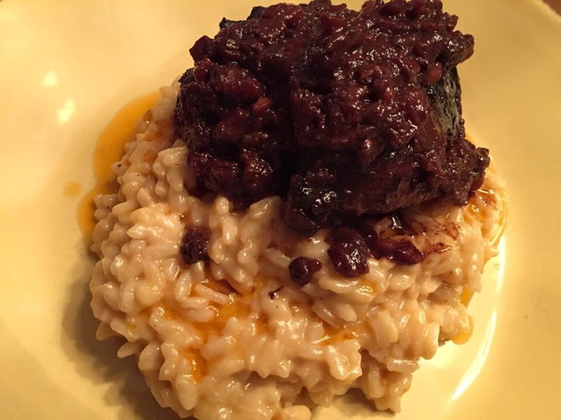 Beef short rib and parmigiano risotto