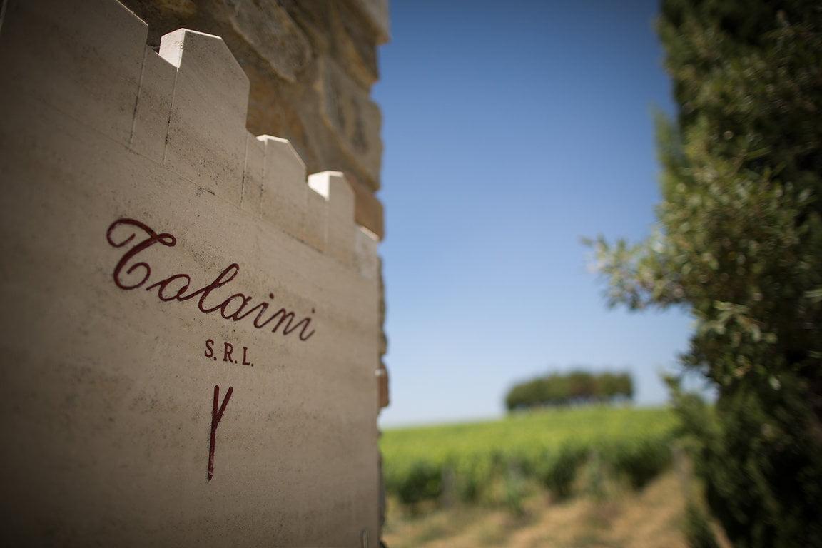 Al Passo Tolaini Stone at gate