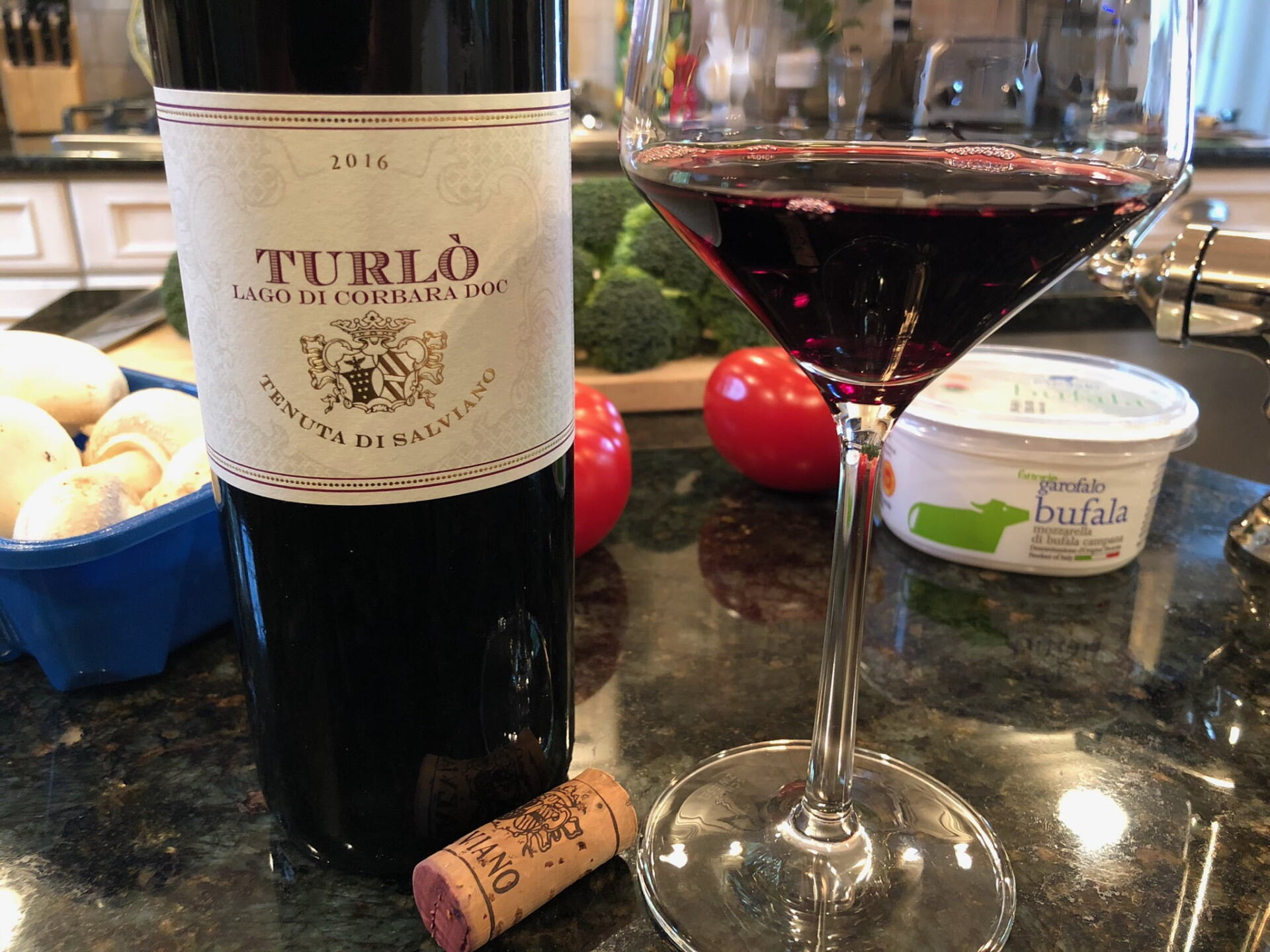 Turlo wine bottle and glass